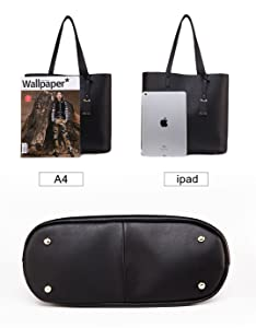 e2eac912234b5 Amazon.com  ilishop PU Leather Handbag Designer Pure Color Pures ...