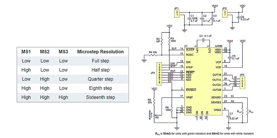 Amazoncom Elegoo Stepstick Stepper Motor Driver Module A4988