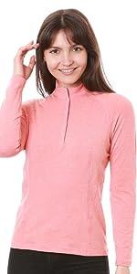 Nozone Clothing sun protective bamboo long sleeve sun protective equestrian shirt women upf 50+
