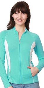 nozone lanai sun protective full zip bamboo womens shirt jacket