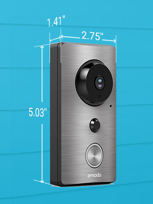 zmodo greet wireless video doorbell with beam. Black Bedroom Furniture Sets. Home Design Ideas