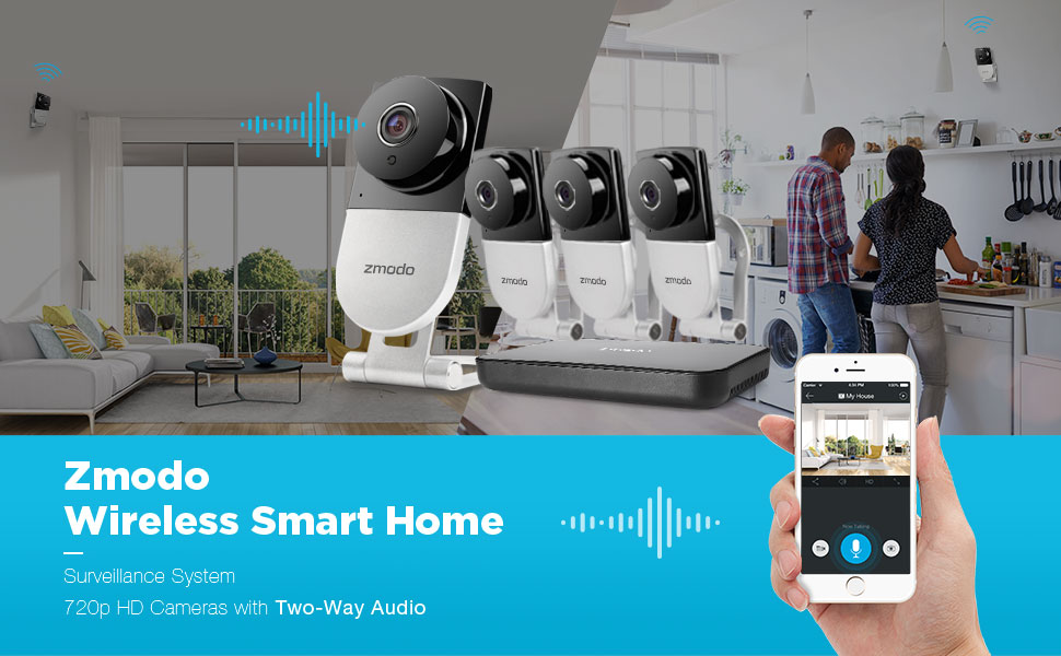 Amazon com : Zmodo 720p HD Wireless Smart Home Surveillance