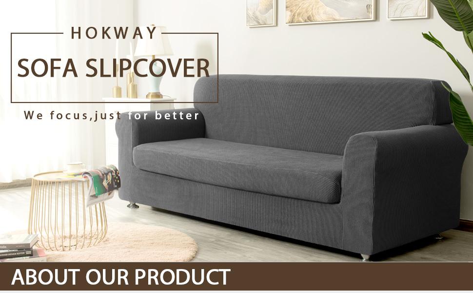 Amazon.com: Hokway - Funda para sofá (2 piezas ...