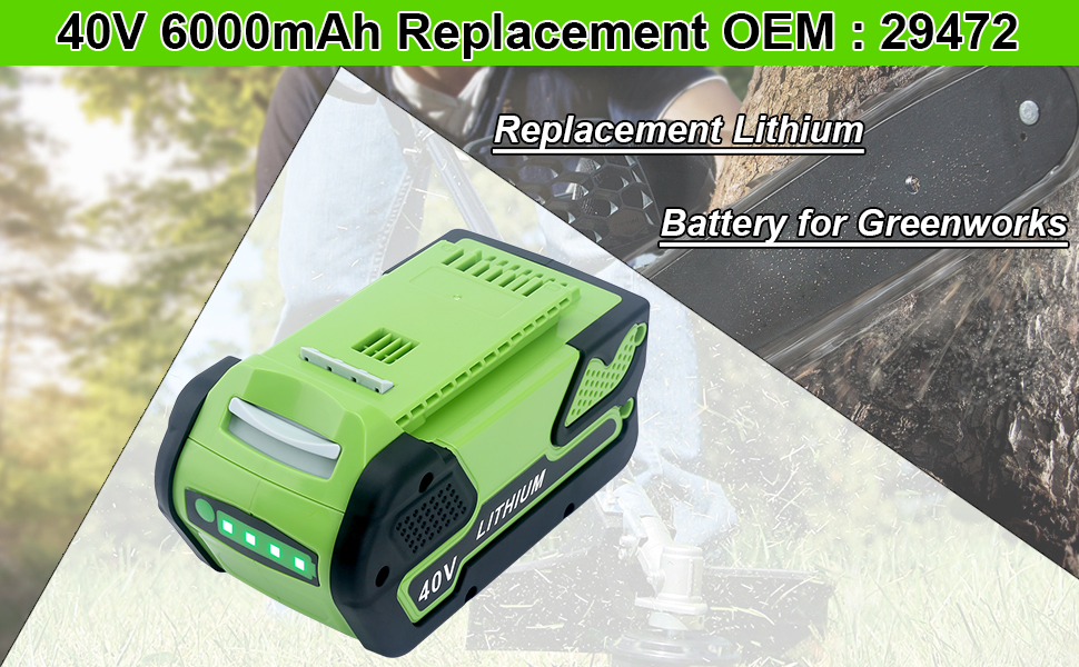Replacement Battery for Greenworks 29472