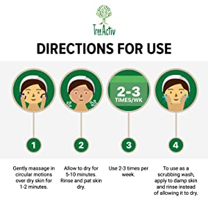 Directions For Use TreeActiv Crepey Skin Microdermabrasion Mask