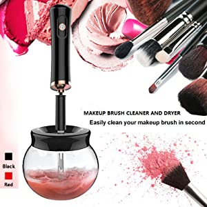 makeup brush cleaner spinner
