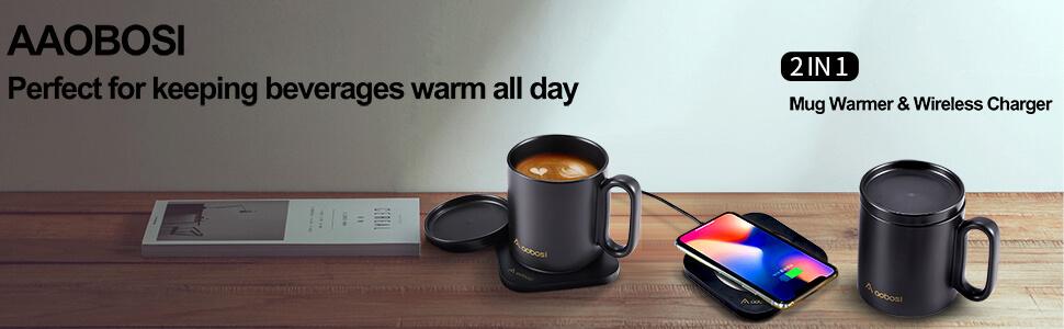 mug warmer wireless charger 2 in 1 coffee warmer coffee cup warmer coffee warmer for desk