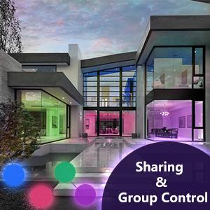 group control light bulb