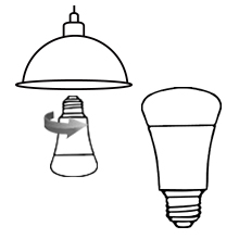 E26 smart light bulb