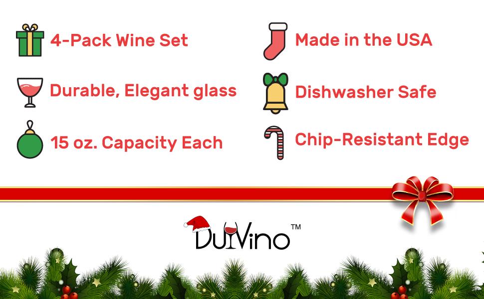 Wine Christmas Puns.Christmas Puns Funny Stemless Wine 5 Oz Glasses Set Of 4