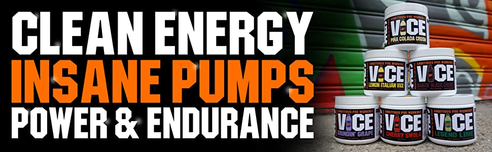 vice, preworkout, gcode nutrition, clean energy, insane pumps, power and endurance