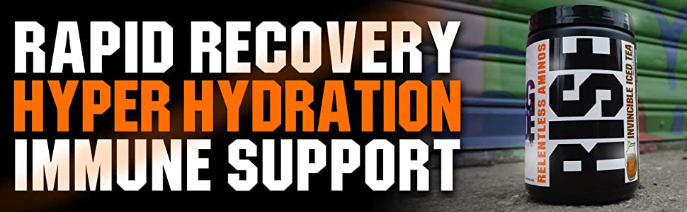 rapid recovery, hyper hydration, immune support, rise, gcode