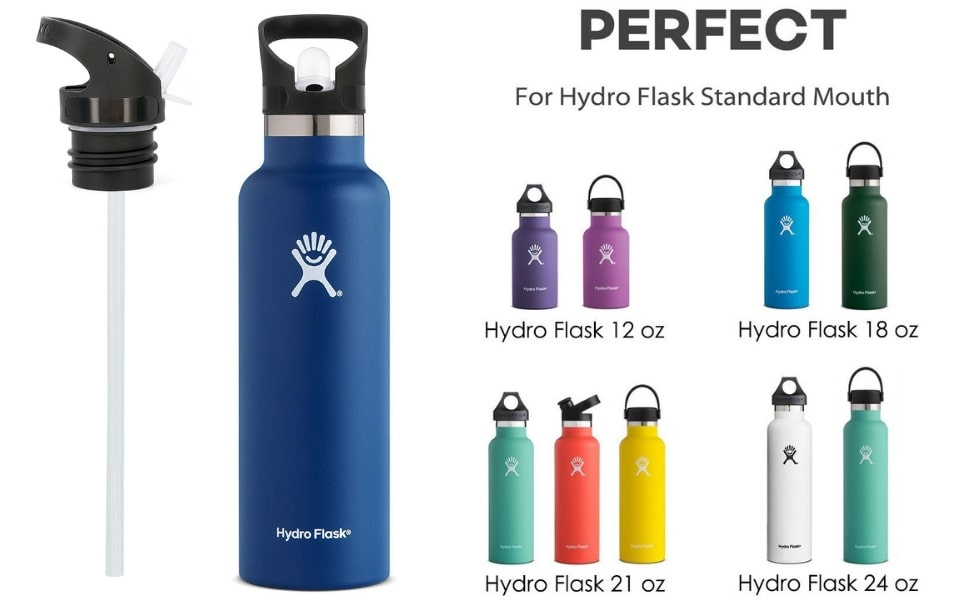 0eb818f00d Amazon.com : Straw Lid for Hydro Flask Standard Mouth Water Bottle ...
