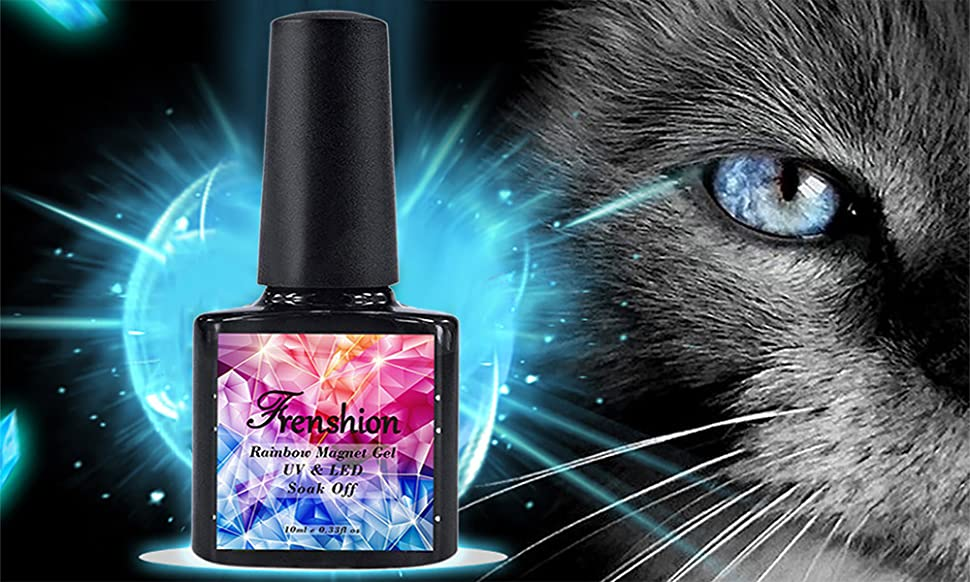 Amazon.com : Frenshion Magnetic Cat Eye Gel Polish 3D Gel Nail ...