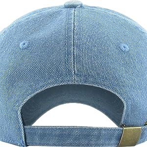 8177b7b0e23076 Amazon.com: KB-Low BLK Classic Cotton Dad Hat Adjustable Plain Cap ...