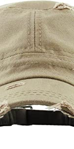 DISTRESSED SOLID ARMY CAP