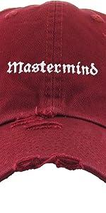 MASTERMIND EMPROIDERY VINTAGE DAD HAT