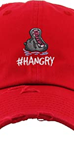 HANGRY EMBROIDERY VINTAGE DAD HAT