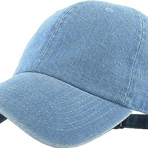 7e9e7b2c Amazon.com: KB-Low BLK Classic Cotton Dad Hat Adjustable Plain Cap ...