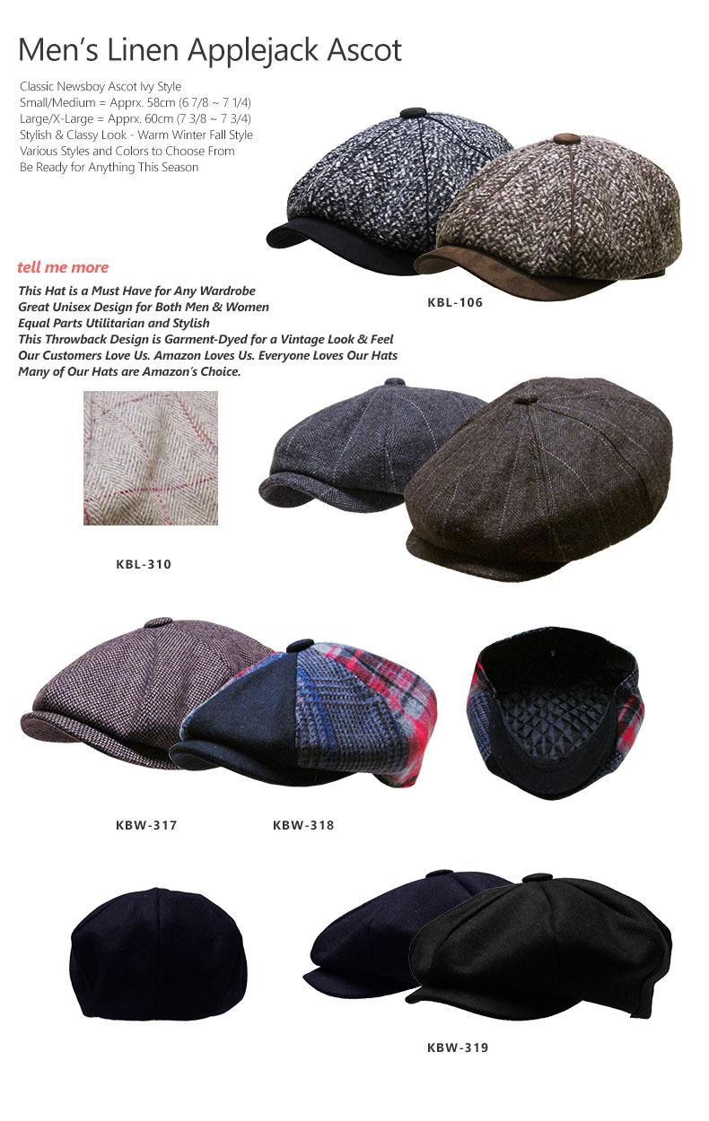 f88cdccbb41e3 Men s Applejack Ascot Gatsby Newsboy Ivy Cabbie Hat Casual   Dress ...