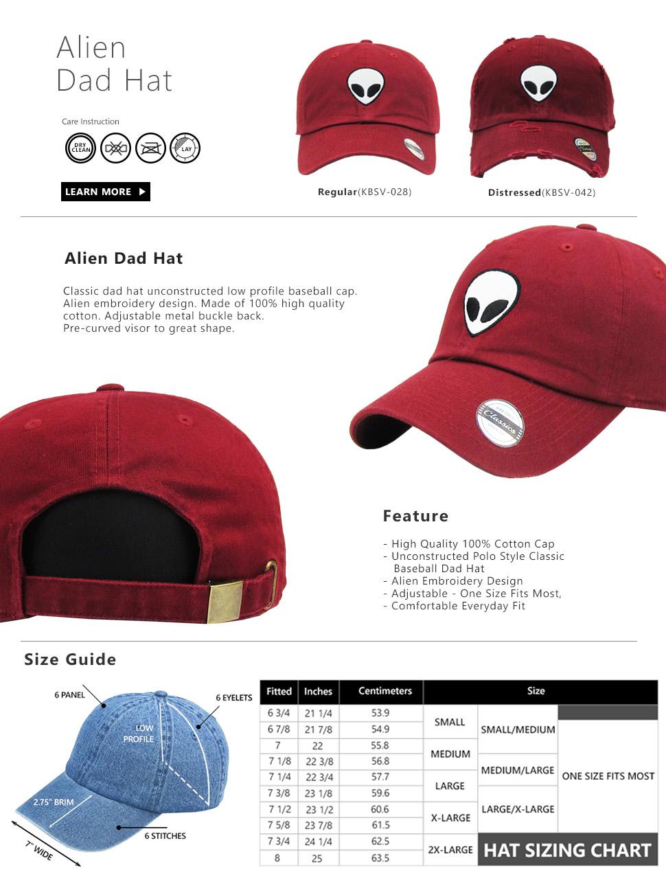 cdfa11a16f9 KBSV-028 BUR Alien Dad Hat Baseball Cap Polo Style Adjustable ...