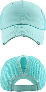 KBETHOS Classic Ponytail Hat Baseball Caps for Women Cotton and Mesh ... 1a712fd66ce4