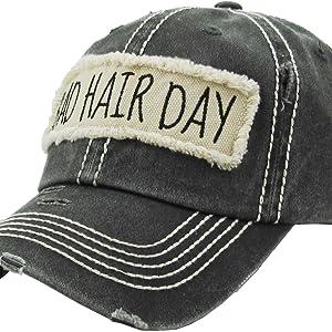Amazon.com  KBV-1034 BLK Womens Vintage Baseball Cap Distressed ... 5e4dda6e8564