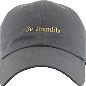 0c3b8e15aff Amazon.com  KBSV-074 BLK Be Humble Dad Hat Baseball Cap Polo Style ...