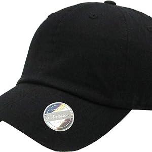 KBETHOS KBSV-082 BLK Cappello da baseball pap/à cappello stile polo regolabile