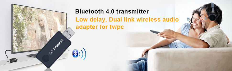 bluetooth transmitter for two headphones