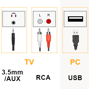 3.5mm or RCA output