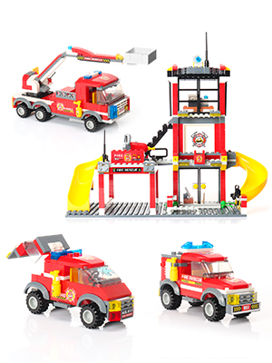 WishaLife 788 Pieces City Police, City Fire Station Building Kit, Toy Fire  Truck Firefighter Toys for Kids with Storage Box for Boys and Girls