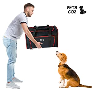 Hearty Pet Dog Black Backpack Outdoor Travel Shoulder Walking Dog Foldable Comfortable Breathable Pet Creative Ergonomic Carrier Bag Neither Too Hard Nor Too Soft Pet Products