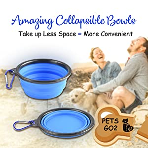PETS GO2 Travel Bag with Bowls