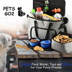 PETS GO2 Travel Bag with dog