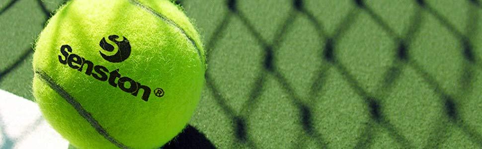 Senston Tennis Training Ball Tennis Trainer Rebound Ball Tennis Trainer Equipment Trainer Base + 2 Training Ball