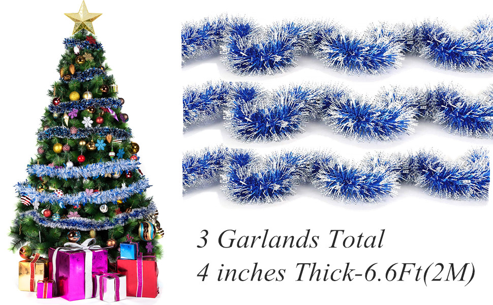 bright metallic tinsel decorate your christmas trees windows doorways wall stair rail lamp posts garage doors and so on