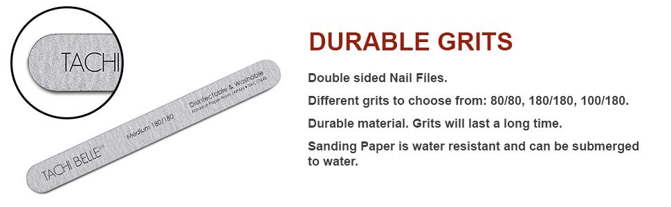 Tachibelle Premium JAPAN Abrasive Disinfectable Washable Zebra Emery Board
