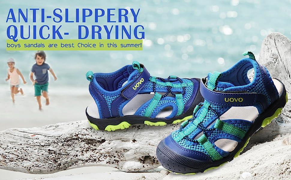 Boys Sporty Sandal Rubber Slip-Resistant Comfortable