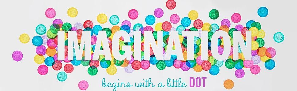 do a dot, imagination, paint, color