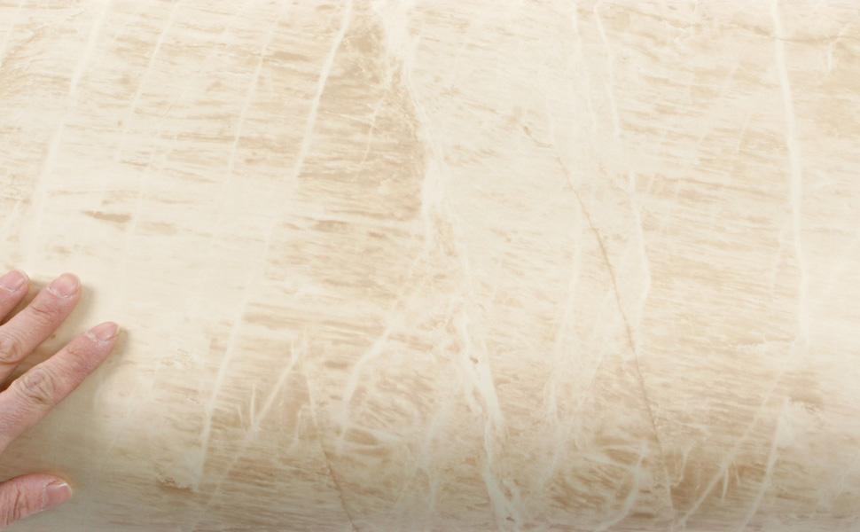 ROSEROSA Peel and Stick PVC Premium Faux Marble Instant Self-Adhesive Covering Countertop Backsplash Grigio GM4701-3 1.96 feet X 8.20 feet