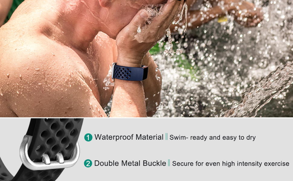 Maledan Air Holes bands are water proof and secure with double metal buckle