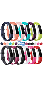 fitbit alta bands replacement strap alta hr ace for women men large small black teal white plum