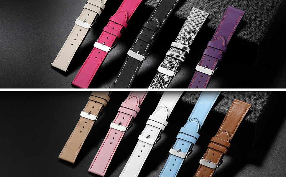 maledan leather bands for fitbit versa have various colors black white brown plum blue pink beige
