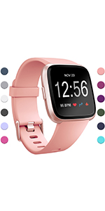 fitbit classic versa bands for women men small large pink