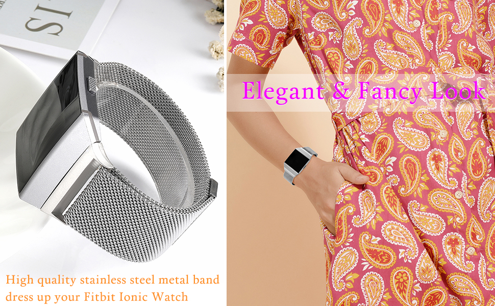 fitbit ionic bands silver