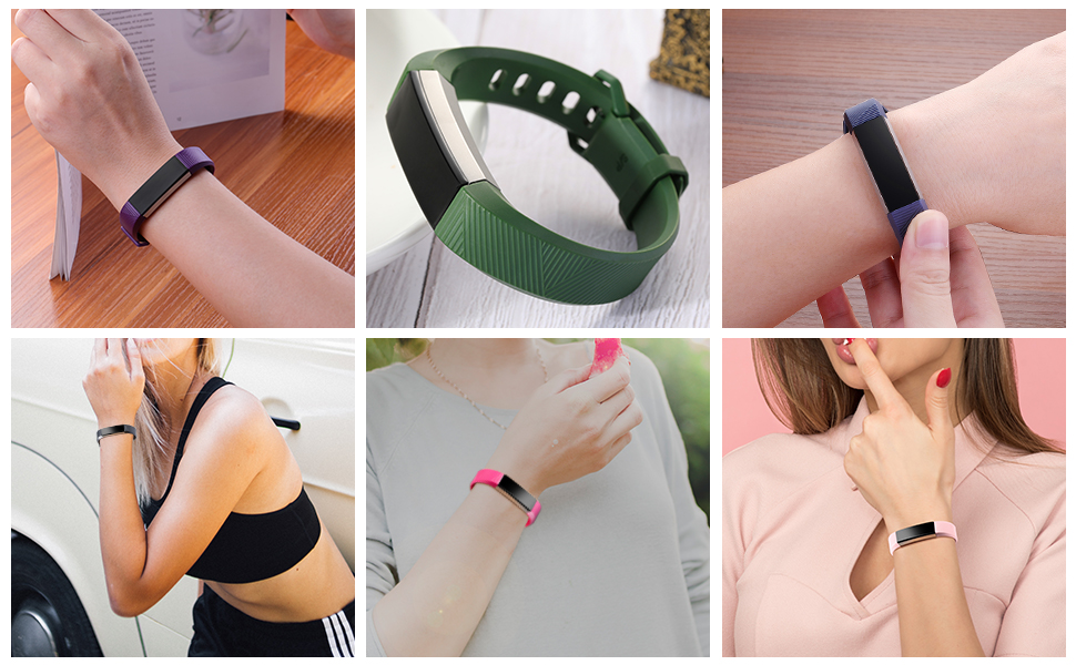 plum green blue rose pink bands for fitbit alta alta hr ace