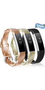fitbit alta bands alta hr ace strap replacement royal gold champagne black