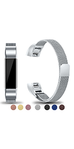 fitbit alta bands replacement metal alta hr for women men large small silver coffee rose gold black