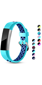 fitbit alta bands replacement strap alta hr ace for women men large small airholes teal bule black